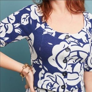 Anthropologie Amiens Floral Top XL New Blouse NWT